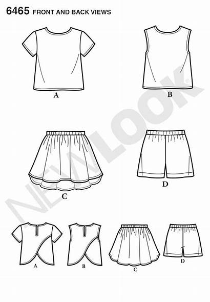 Skirt Easy Shorts Pattern Sewing Patterns Child
