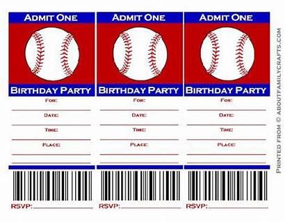 Baseball Ticket Invitations Printable Invitation Template Templates