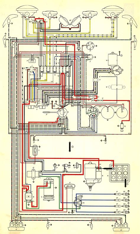 Wiring Diagram For A by Thesamba Type 3 Wiring Diagrams
