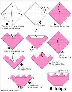 Tulips2 - Easy Origami instructions For Kids