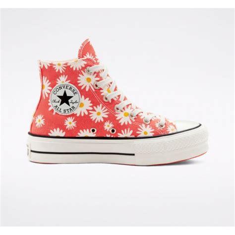 converse flower shoe daisies chuck camp platform taylor womens star