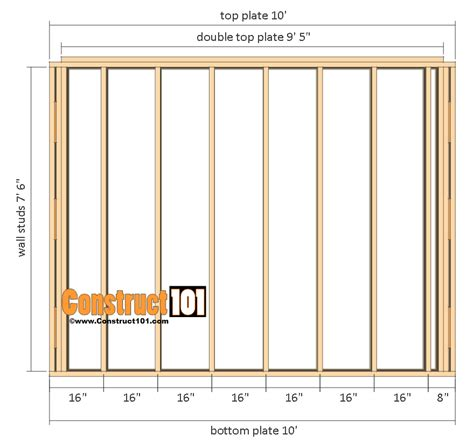 shed floor plan shed plans 10x12 gambrel shed construct101