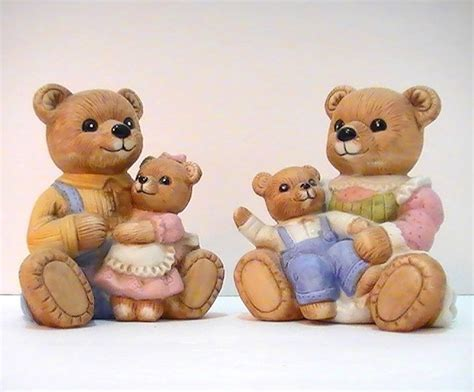 home interiors candles homco teddy family 1444 2 set boy