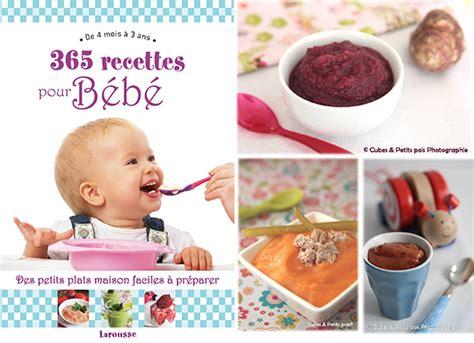 cuisine de bebe un livre 365 recettes pour bébé à gagner cuisine de bébé