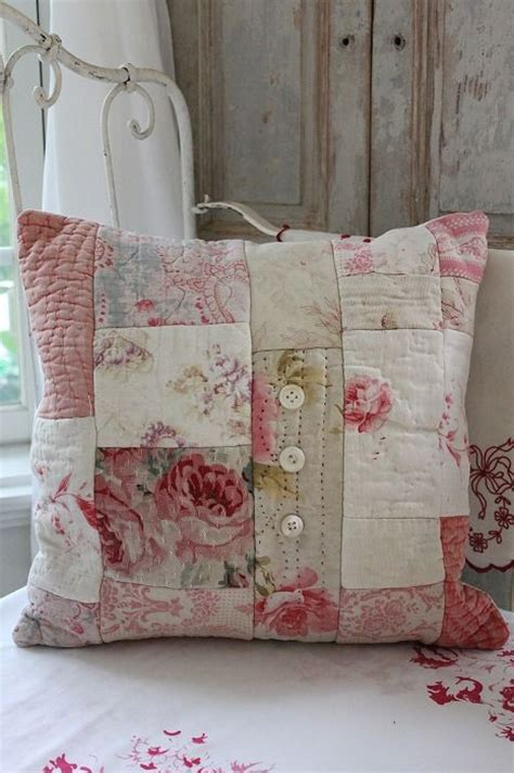 shabby chic patchwork shabby chic pillow couture pinterest patchwork cushion patchwork and cushions