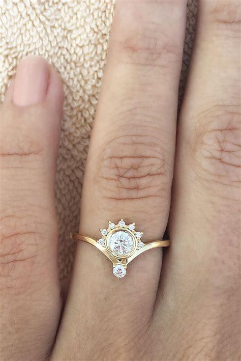 crown unique simple dainty engagement ring jewellery engagement rings dainty engagement
