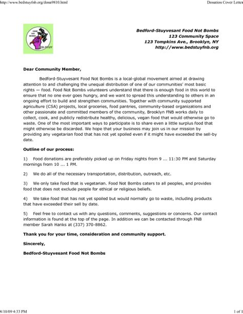 Request For Cover Letter cover letter for donation request