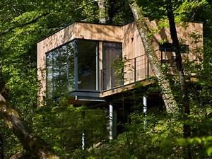 des cabanes bois et design plongees dans la nature With exceptional amenagement exterieur terrasse maison 12 cabane pilotis