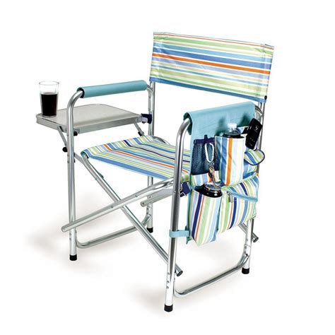 Csmart Portable Directors Chair by Shop Picnic Time Aluminum Folding Cing Chair At Lowes
