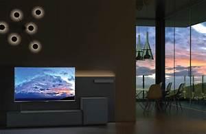 Meuble Tv Au Mur : fixer un t l au mur sans voir les c bles coudert ~ Teatrodelosmanantiales.com Idées de Décoration