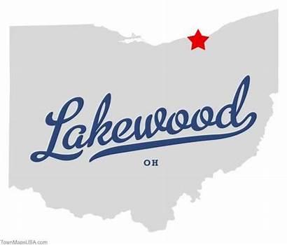 California Cleveland Ohio Lakewood Map