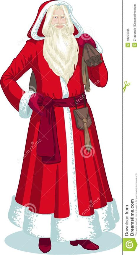 french christmas character pere noel cartoon stock vector