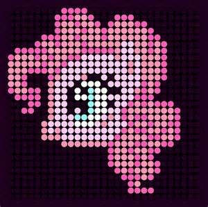Pinkie Pie Perler Bead Pattern