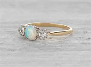 vintage opal engagement rings wedding and bridal inspiration - Opal And Engagement Rings