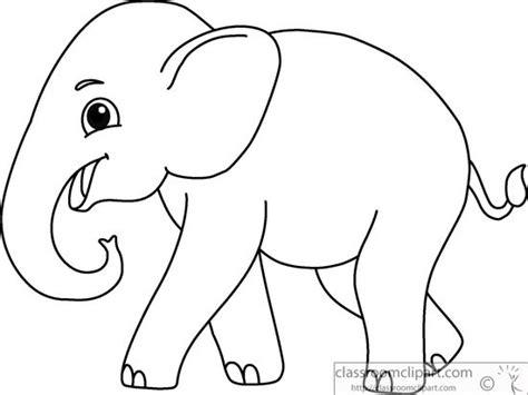 elephant clipart black and white animals asian elephant black white outline 914