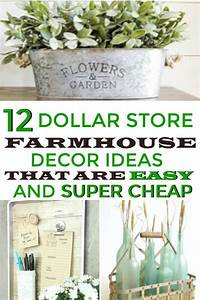 12, Dollar, Store, Farmhouse, Decor, Hacks, That, Are, Easy, And