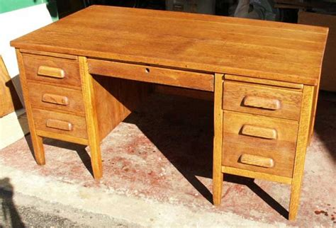 Antique Teachers Desk by Golden Oak Desk Restoration By Artisans Of The Valley By