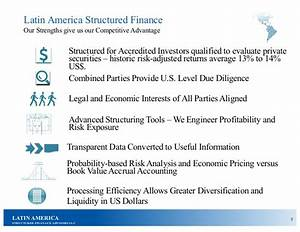 Latin America Structured Finance Process