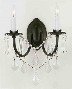 Wall chandelier crystal scones lighting fixtures
