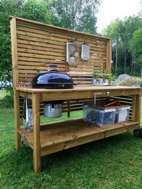 grill side table outdoor weber grill table utekök trädgård outdoor kitchen