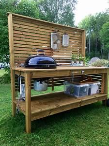Weber grill table utekök trädgård outdoor kitchen ...