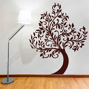 Wall decals beautiful waving tree wall stickers for Beautiful wall decals