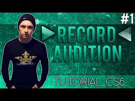 How To Record With Adobe Audition Cs6  Tutorial #1 (new