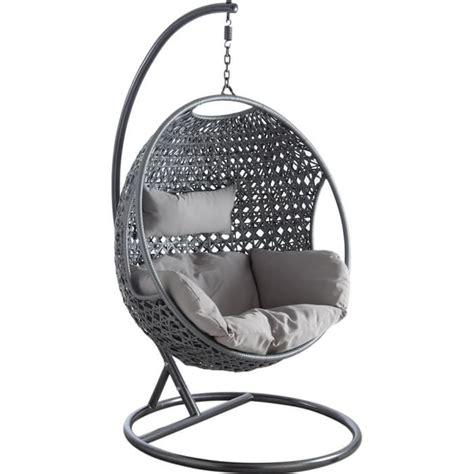 chaise rockincher balancelle sur pied en polyrésine et acier 107x66cm