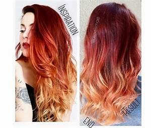 Ombré Hair Rouge : 20 balayages cheveux impressionnants coiffure simple et ~ Melissatoandfro.com Idées de Décoration