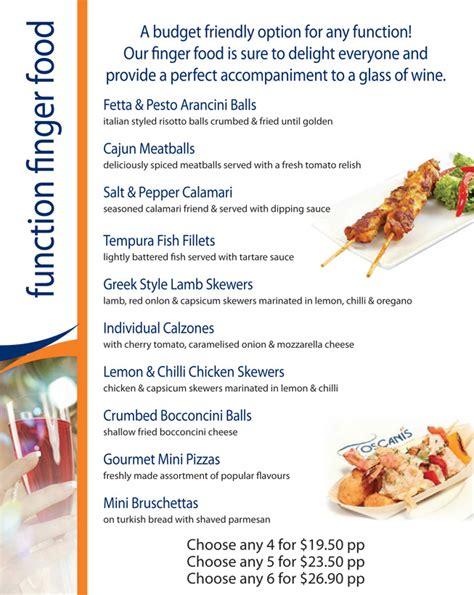 Finger Foods  Toscanis  Cafe, Bar And Restaurant