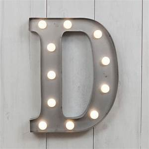 vegas metal led circus letter light d by all things With metal letters with lights in them