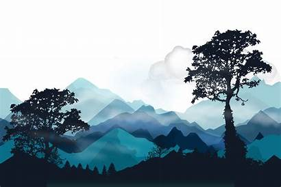 Mountain Vector Tree Silhouette Mountains Landscape Forest