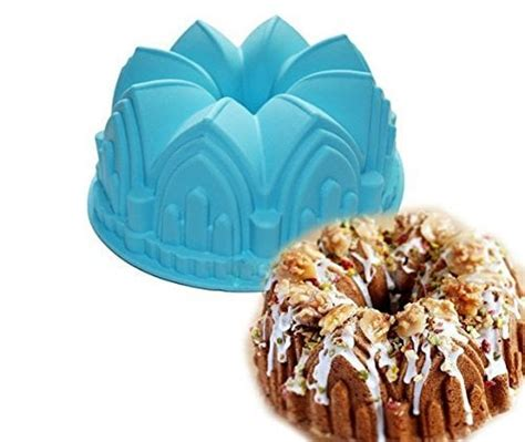 cake bundt pan crown pans mold silicone swirl tray baking bakeware july moulds 3d bread chocolate