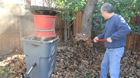 leaf mulcher home  youtube
