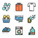Laundry Icons Clothes Washing Clipart Sorting Line