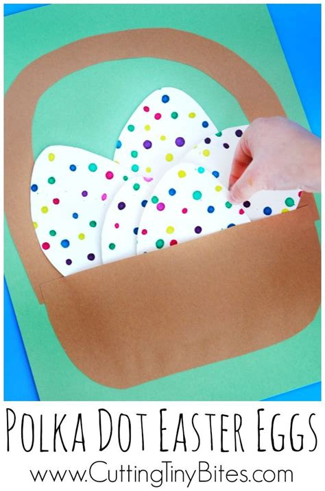 polka dot easter eggs   preschool easter crafts