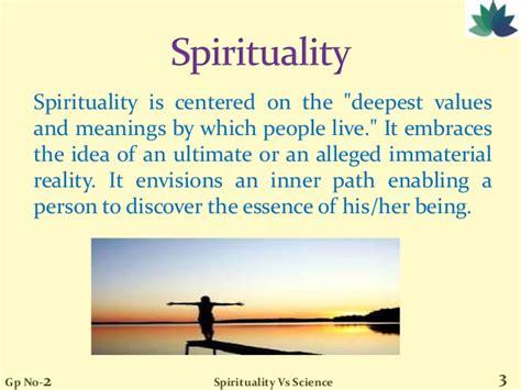 spirituality  science