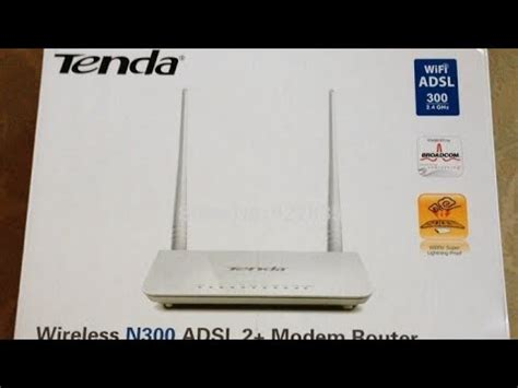 tenda d301 v2 adsl modem router unboxing and review