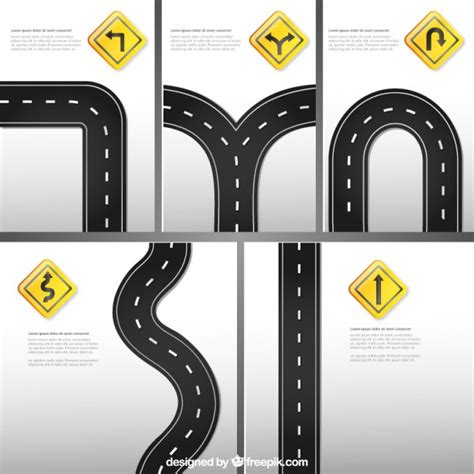 road signs template vector free