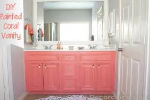 bathroom vanity paint ideas diy painted coral vanity decorchick