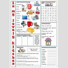 Kitchen Vocabulary Exercises Worksheet  Free Esl Printable Worksheets Made By Teachers