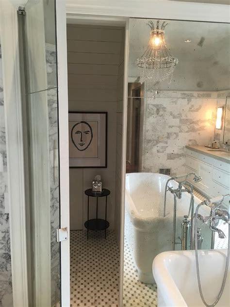 bathroom  hidden toilet transitional bathroom