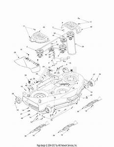 Mtd 13ar608p731  2004  Parts Diagram For Deck Assembly 50 Inch