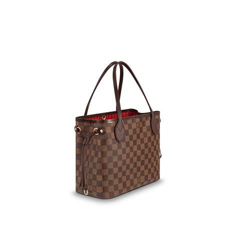 neverfull pm damier ebene handbags louis vuitton