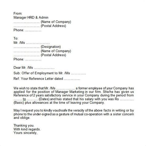 sample proof employment letter   documents