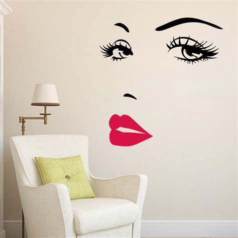wall decoration stickers marilyn lip home decor wall