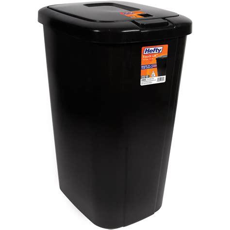 Hefty Touchlid 133gallon Trash Can, Black Wastebasket