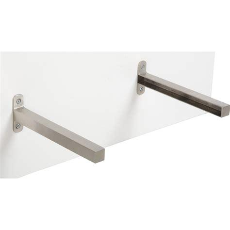 plan de travail inox cuisine professionnel equerre d 39 extrémité aluminium inox l 23 5 x l 2 cm