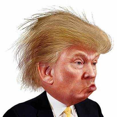 Trump Donald Funny Face Caricature