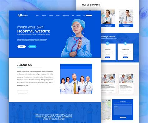 hospital website template  psd  psd